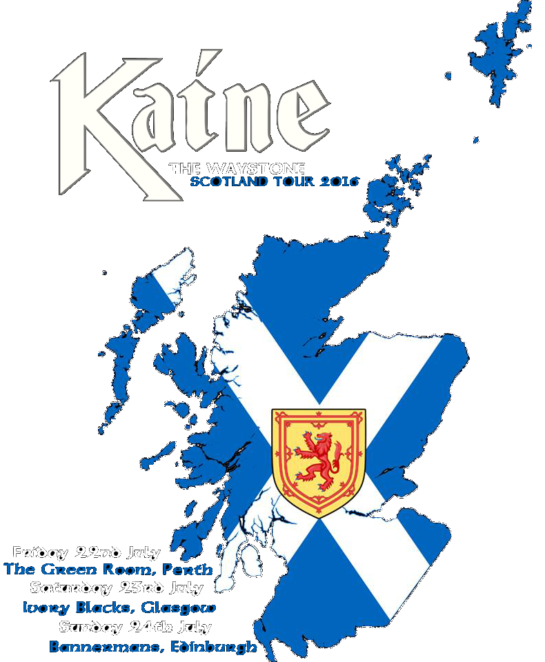 Kaine announces first standalone Tour - Scotland 2016
